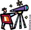 Telescopes Vector Clipart graphic