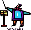 Vector Clipart illustration  of a Orchestra Conductors