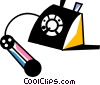 Home Phones Vector Clipart illustration