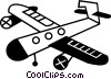 Propeller Planes Vector Clipart graphic