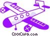 Vector Clipart illustration  of a Propeller Planes