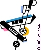 Vector Clip Art graphic  of a Ski Equipment