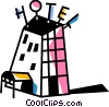 Hotels and Motels Vector Clipart illustration