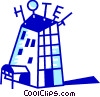 Hotels and Motels Vector Clip Art picture
