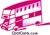 Vector Clip Art graphic  of a Double-Decker Buses