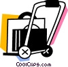Vector Clip Art graphic  of a Hand Carts and Dollies
