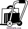 Vector Clipart image  of a Hand Carts and Dollies