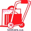 Hand Carts and Dollies Vector Clipart picture