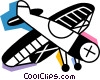 Propeller Planes Vector Clipart picture
