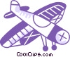 Propeller Planes Vector Clipart illustration