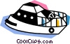 Vector Clipart illustration  of a Yachts