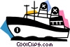 Cruise Ships and Ocean Liners Vector Clip Art graphic