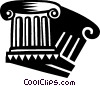 Vector Clip Art picture  of a Column or Pedestal