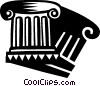 Vector Clip Art graphic  of a Column or Pedestal