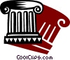 Column or Pedestal Vector Clip Art graphic
