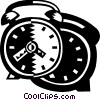 Vector Clipart image  of an Alarm Clocks