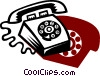 Vector Clipart picture  of a Home Phones