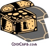 Treasure Chests Vector Clip Art graphic