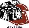 Treasure Chests Vector Clipart picture