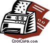 Printers Vector Clip Art graphic