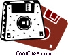 Diskettes Floppy Disks Vector Clipart picture
