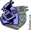 Vector Clipart illustration  of a Microscopes