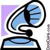 Vector Clipart image  of a Phonograph Gramophone Record