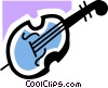 Vector Clip Art graphic  of a Double Bass