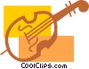 Vector Clip Art picture  of a Double Bass