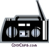 Vector Clipart picture  of a Portable Cassette Players