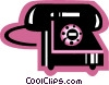 Vector Clipart illustration  of a Home Phones