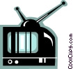 Televisions Vector Clipart illustration