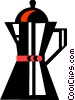 Vector Clip Art graphic  of a Coffee Pots and Coffee Makers