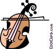 Vector Clipart picture  of a Cellos