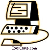 Computer Desktop Systems Vector Clipart graphic