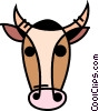 Vector Clip Art graphic  of a Bulls