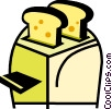 Vector Clipart image  of a Toasters
