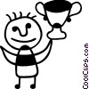Vector Clipart image  of a Trophies