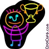 Vector Clipart illustration  of a Trophies