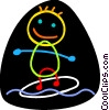 Vector Clip Art graphic  of a Surfing