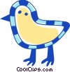 Vector Clip Art picture  of a Chicks