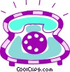 Home Phones Vector Clipart picture