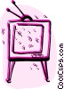 Vector Clipart picture  of a Televisions