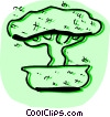 Vector Clip Art image  of a Bonsai Trees
