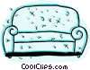 Chesterfields Couches Sofas Vector Clipart illustration