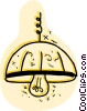 Vector Clipart graphic  of a Chandeliers