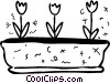 Vector Clip Art graphic  of a Tulips