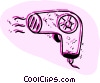 Vector Clip Art graphic  of a Hair Dryers or Blow Dryers