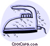 Irons Ironing Vector Clipart graphic