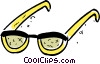 Vector Clip Art picture  of a Glasses and Eyeglasses